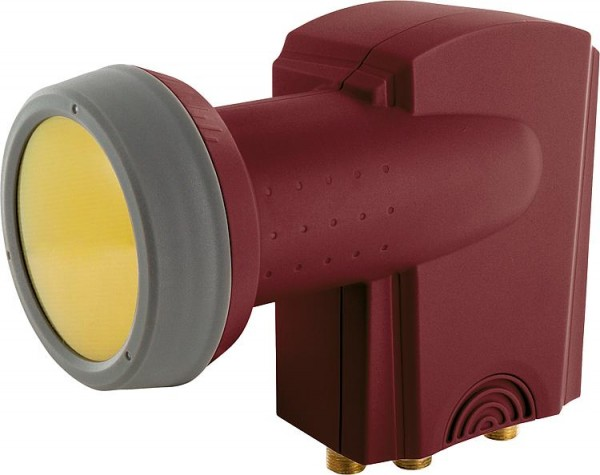 Quattro-LNB Schwaiger 40mm Sun Protect,ziegelrot