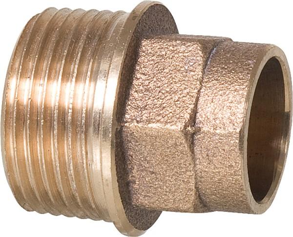 "Rotgußlötfittings 4243g Übergangsnippel 22 mm x R 1/2"" AG Rotguss Nippel"