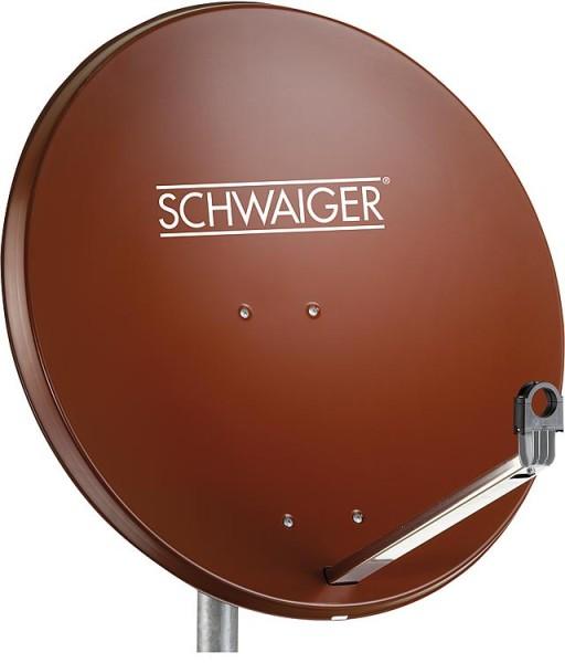 SAT-Spiegel Schwaiger 75cm Aluminium, ziegelrot