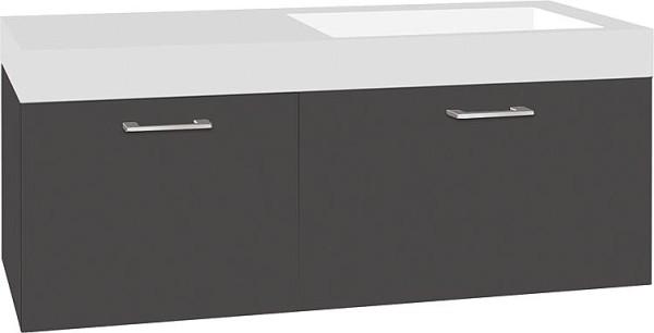 Hochschrank Serie MAA 1 Türe anthrazit matt Anschlag links 386x1500x206mm